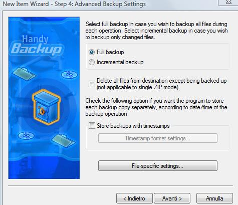 creare backup PC