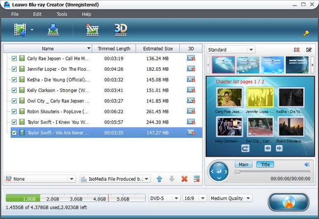 Blu-ray Creator Import