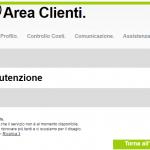 Area Clienti 3 non funziona, come fare?