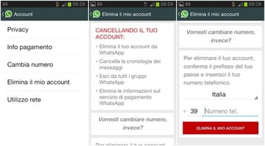 Come cancellare il tuo account whatsapp o disabilitarlo for Il tuo account e stato attaccato