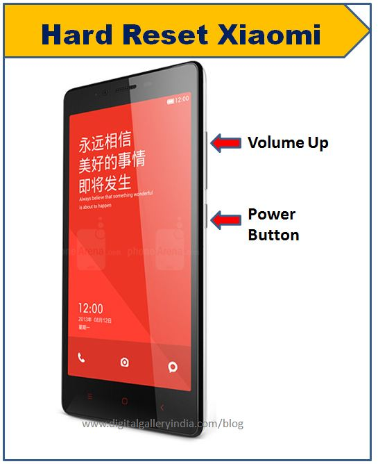 Come fare hard reset Xiaomi Redmi Note 4G