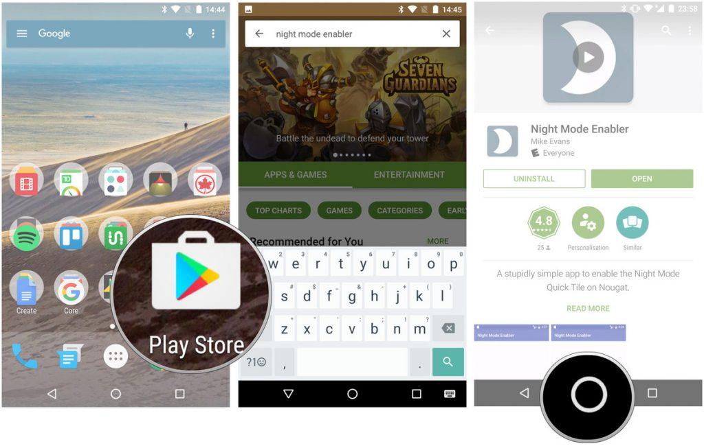 Ecco come attivare la modalità notturna in Android Nougat 7.0