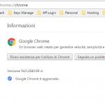 Come controllare ultima versione di Chrome prima di aggiornare