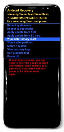 Come fare Soft Reset / Hard Reset su Galaxy S8 / S8 Plus