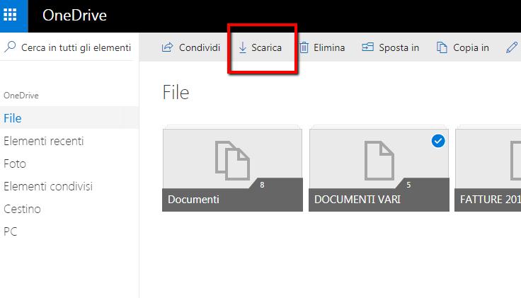 Come scaricare file da un cloud (OneDrive, Google Drive) sul computer
