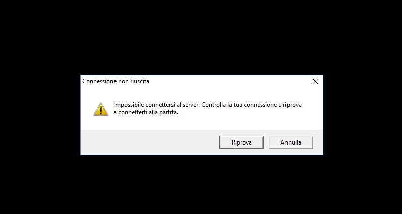 "Risolvere Errore ""Impossibile Connetersi al Server…"""