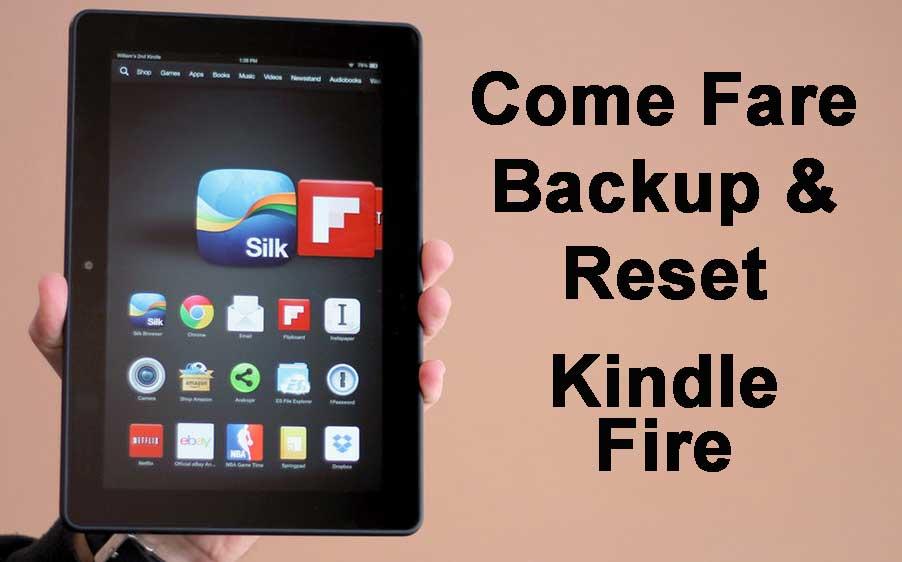 Come Fare Backup e Reset Kindle Fire