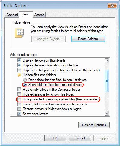 Come mostrare i file nascosti in Windows 10
