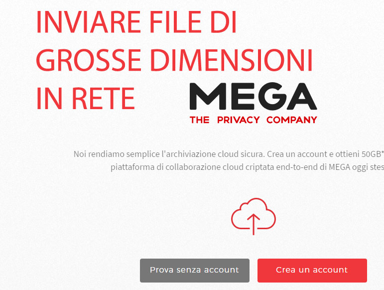 Come condividere grossi file via internet