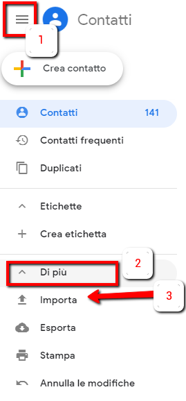 Trasferimento dei contatti da Oulook a Gmail