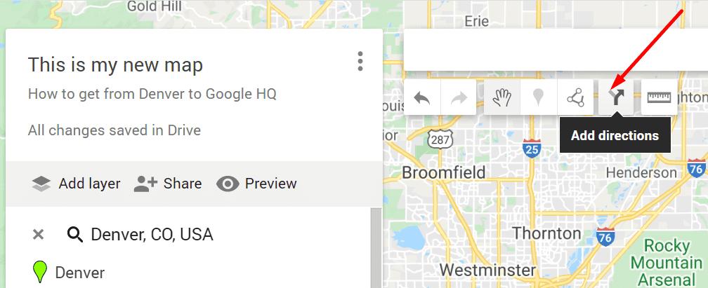 google my maps aggiungi indicazioni