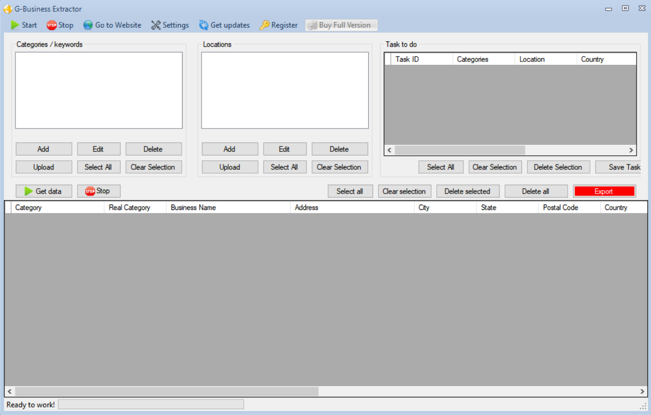 G-Business Extractor 2.8.0