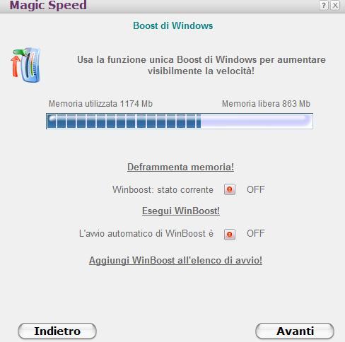 Ottimizzare Impostazioni Windows